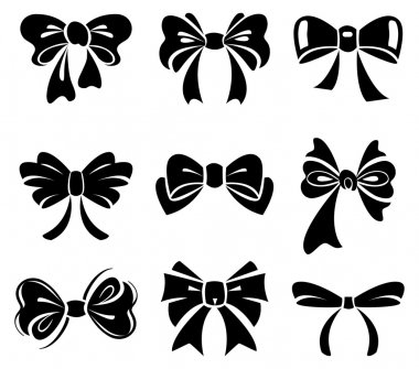 Set of bow stock vector