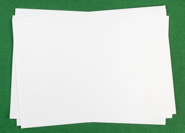 Few white sheets of paper
