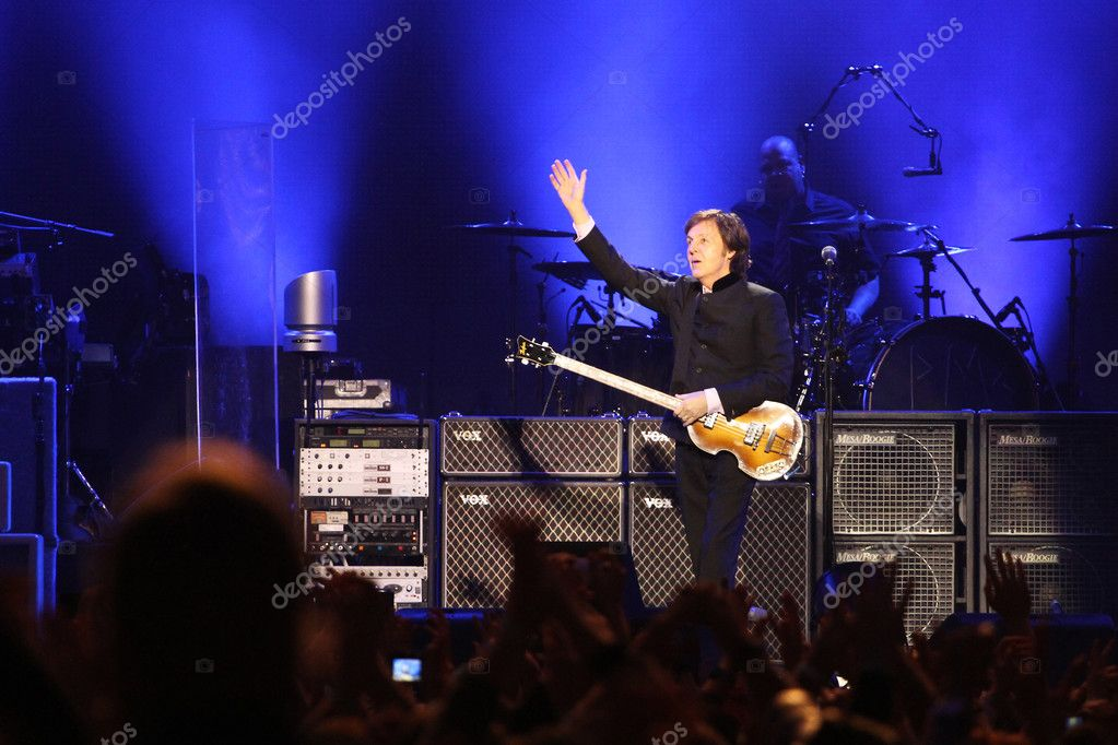 MOSCOW, RUSSIA - DECEMBER 14: Ex-beatle Sir Paul McCartney