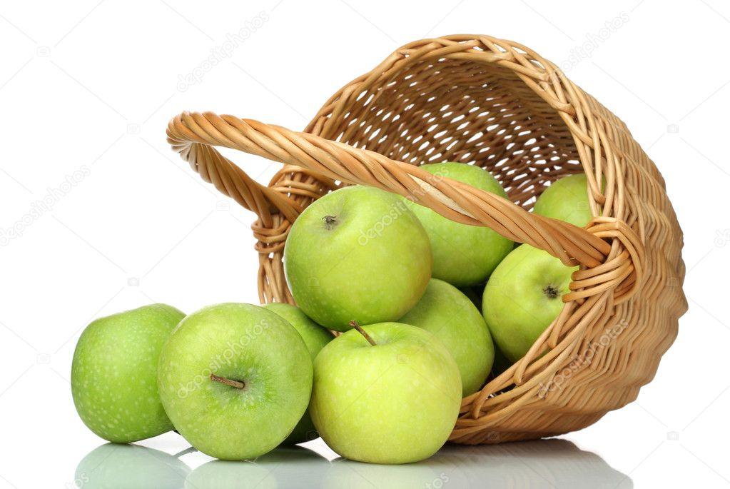 Cesto di mele verdi su sfondo bianco foto stock - Immagini stampabili di mele ...