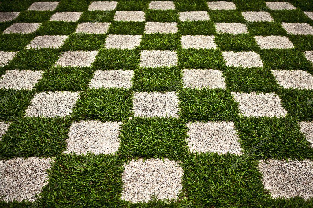 Verde giardino zen erba a scacchi foto di sfondo foto for Giardino zen prezzo