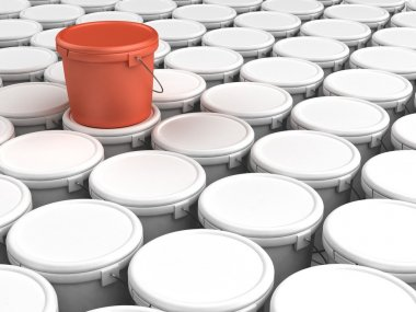 Plastic bucket pacage background