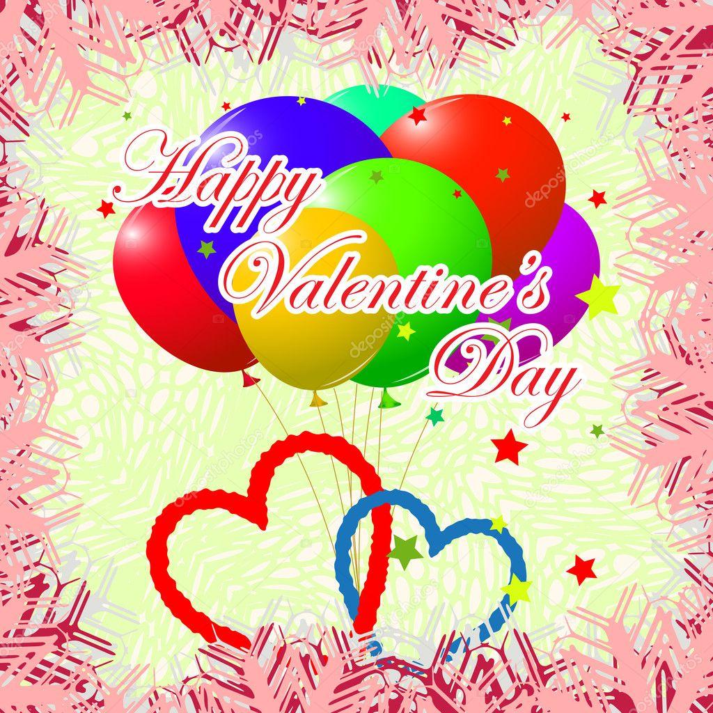 Vorlage Tag Valentinskarte — Stockvektor © robertosch #8995267