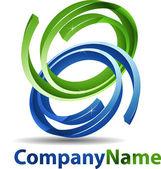 abstraktní 3d koule logo společnosti