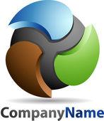 Fotografia 3d astratta sfera logo aziendale