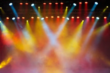 Lights in a concert stage