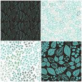 sada čtyř bezešvé pattern s list. abstraktní list texturu, e