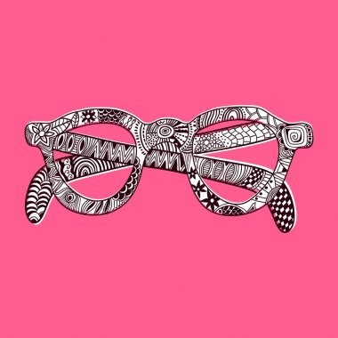Sunglasses. Vector. Glasses with ornated setting. laced illustra