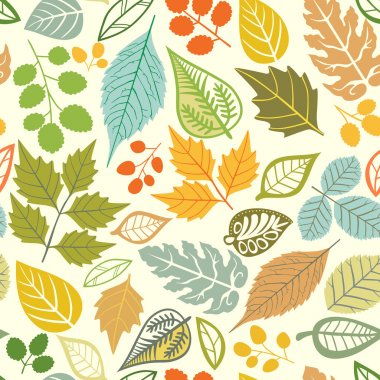 A seamless pattern with leaf,autumn leaf background stock vector