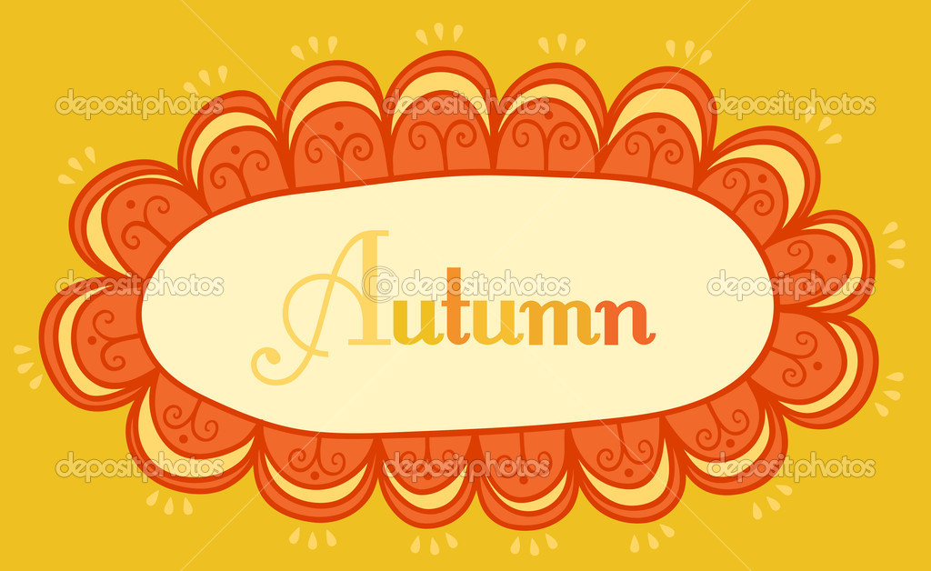 abstrakte Rahmen für Ihren Text. Herbstliche Thema Header. Vektor ...