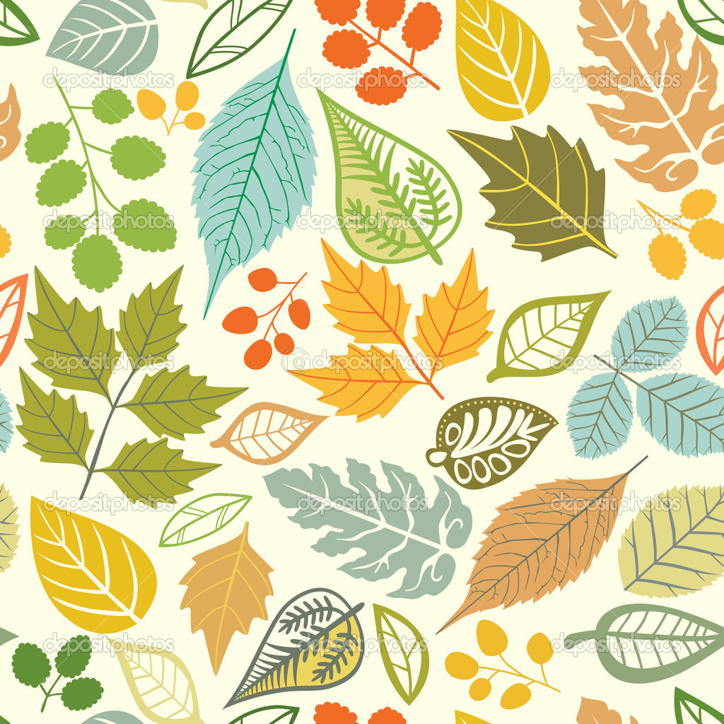 A seamless pattern with leaf,autumn leaf background
