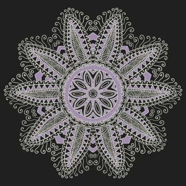 Ornamental round lace pattern. Background for celebrations, holi