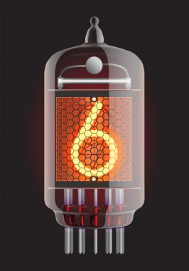 Nixie radio tube.