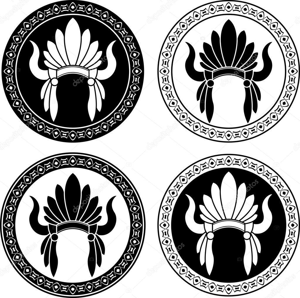 tocado de indio americano nativo — Archivo Imágenes Vectoriales ...