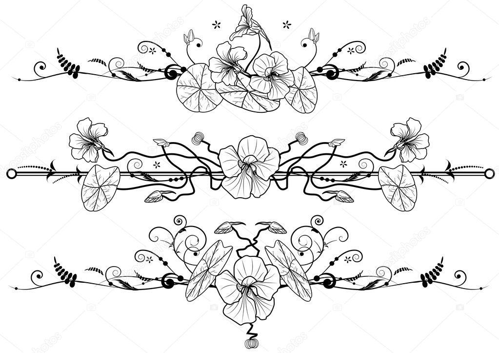 Floral set with nasturtium