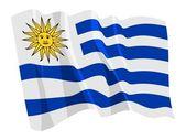 Fotografia bandiera sventolante politico delluruguay