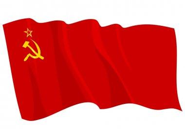 Political waving flag of USSR