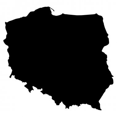 Vector illustration of maps of Poland