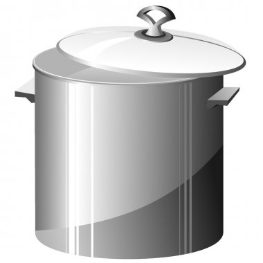 Vector illustration of a metal pan