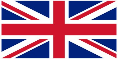 Vector illustration of the flag of United Kingdom