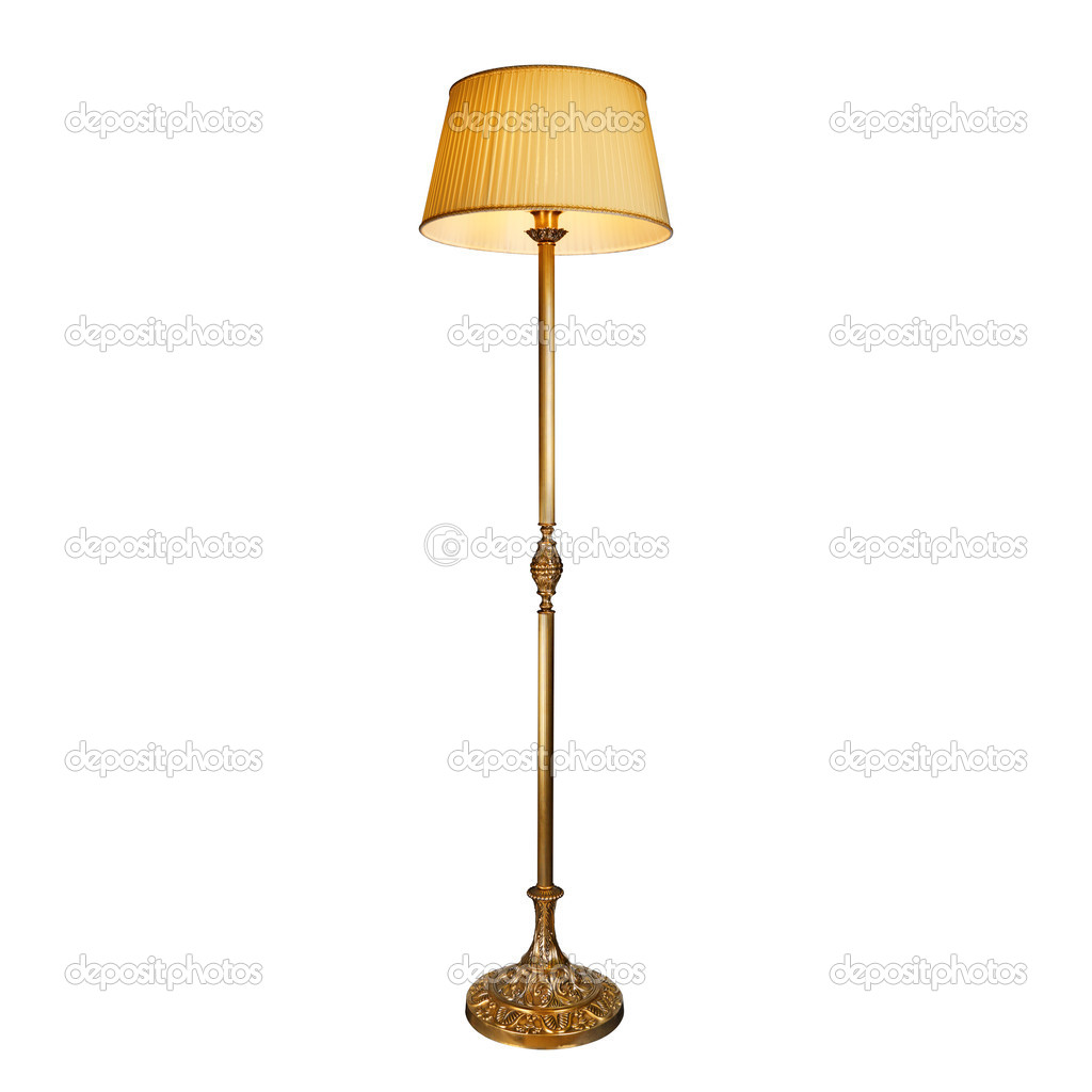 Vintage Stand Lamp Isolated On White U2014 Stock Photo
