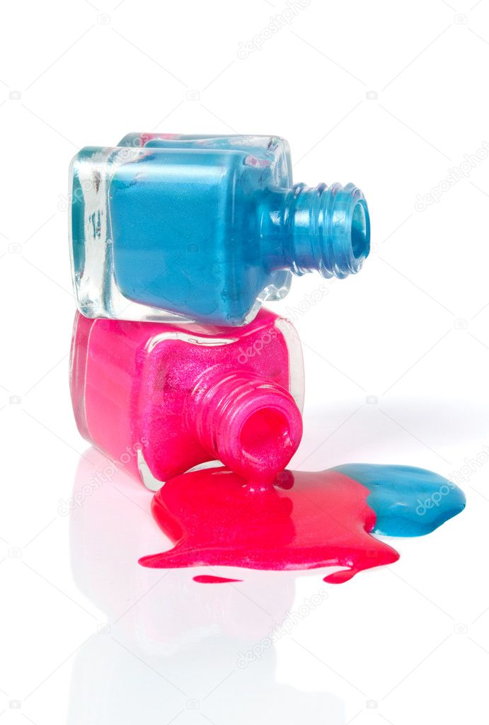 Nail polish dripping from stacked bottles — Stock Photo © urfingus ...