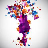 Fotografia sfondo di forme geometriche 3d