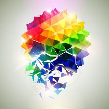 Сollapse of the ball. clip art vector