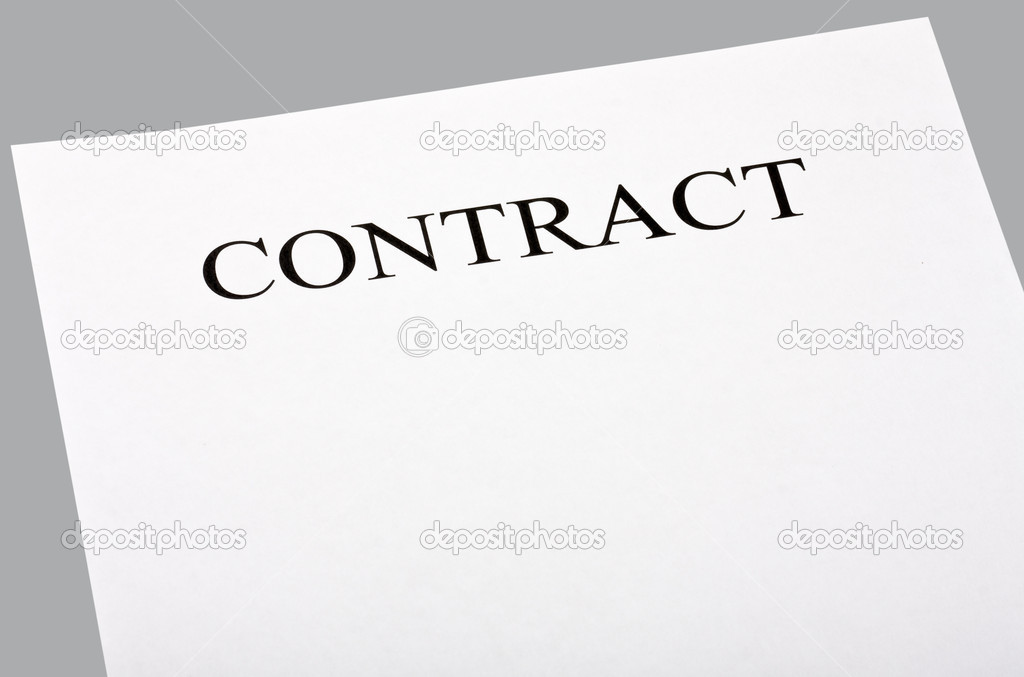 Blank contract — Stock Photo © doroshin #10014069