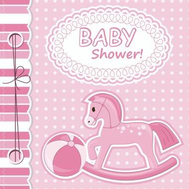 Baby girl scrapbook card