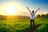 boldog ember szabadtéri