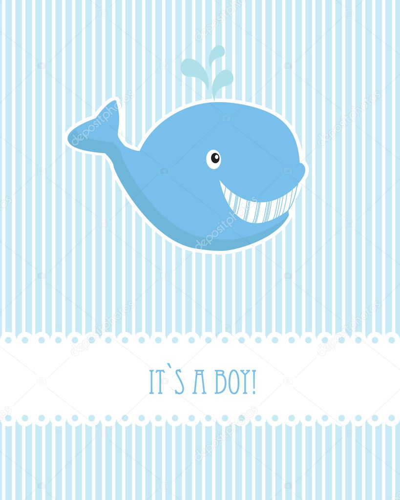 Baby boy birthday card with blue whale stock vector mcherevan baby boy birthday card with blue whale stock vector bookmarktalkfo Choice Image