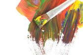 Photo Abstract dabs colour paints