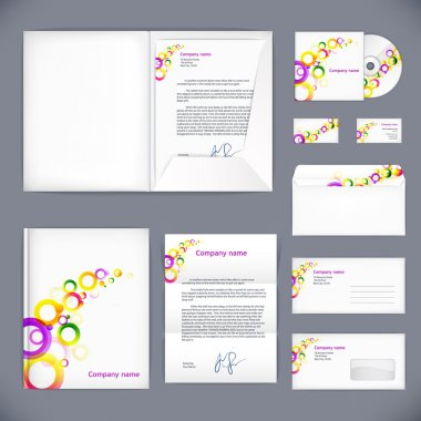 Business style, vector corporate identity template. Eps10