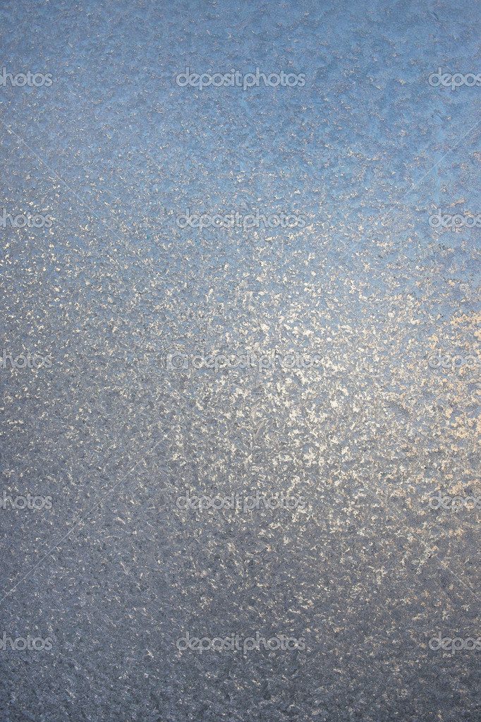 Texture of frosted glass. Abstract winter background.