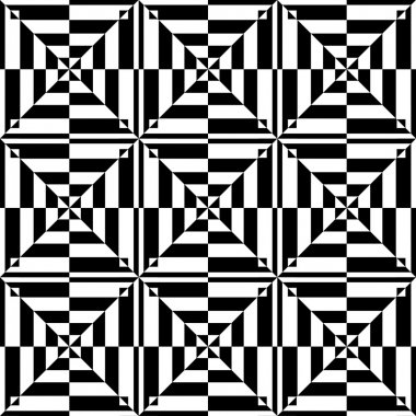 Op art design. Seamless geometric pattern.