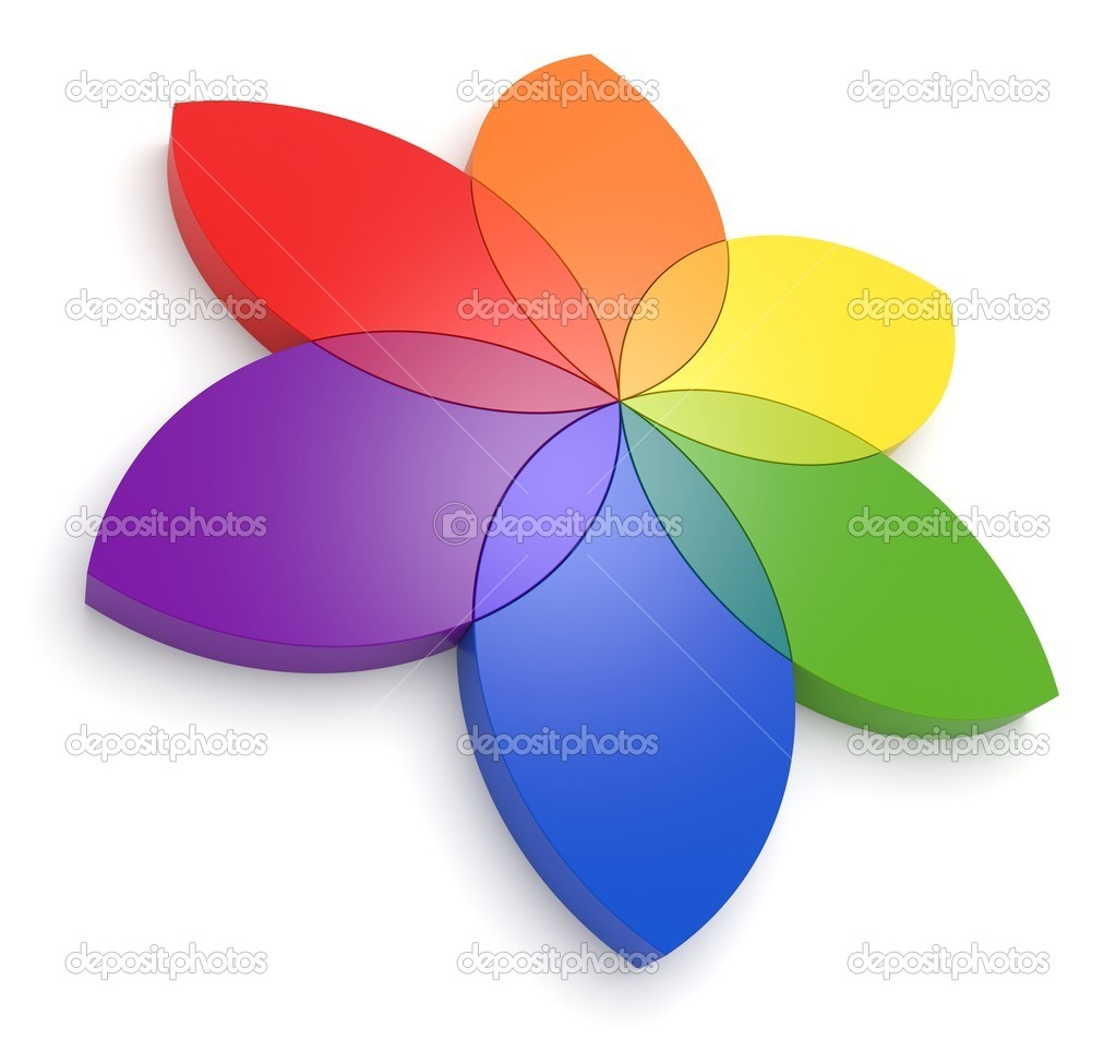 Flower Color Wheel 3D