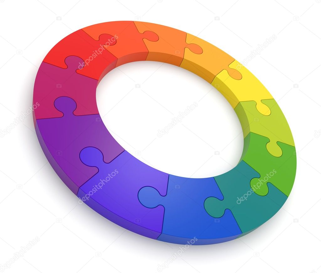 Puzzle Color Wheel 3D
