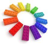 barevné hračky cihly