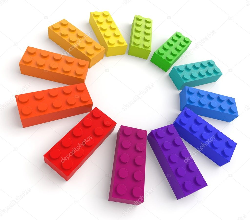 Colored toy bricks