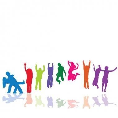 Kids jumping,playing,dancing
