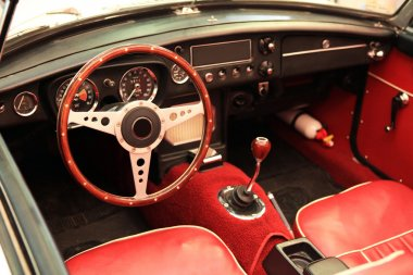 Salon of an old cabriolet