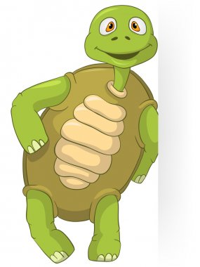 Cartoon Character Funny Turtle Isolated on White Background. Vector EPS 10. clip art vector
