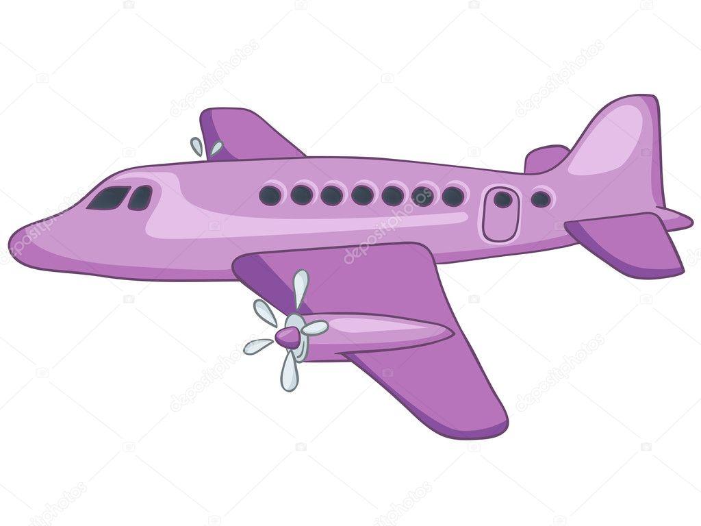 cartoon airplane u2014 stock vector rastudio 8680972