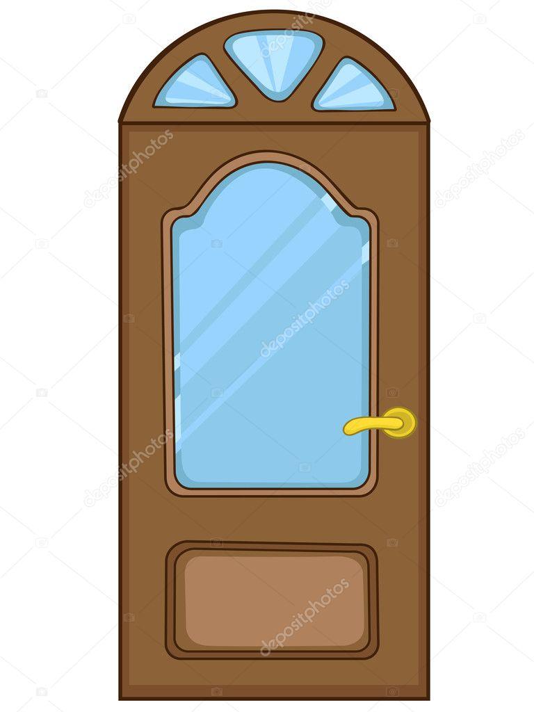 Dessin Porte Maison : Maison porte de dessin animé — image vectorielle rastudio