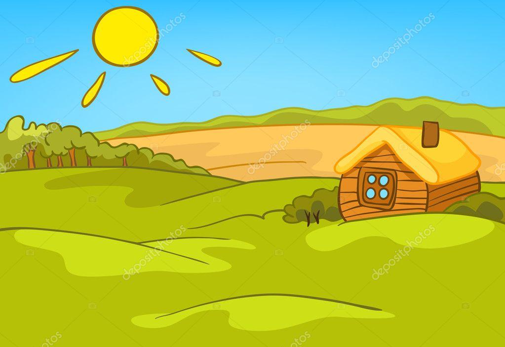 Landscape Illustration Vector Free: Stock Vector © Rastudio #9797970