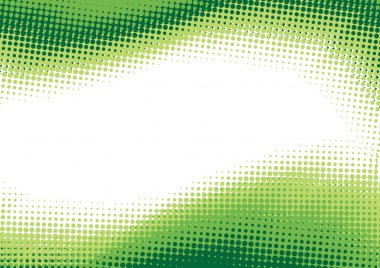 Green halftone background