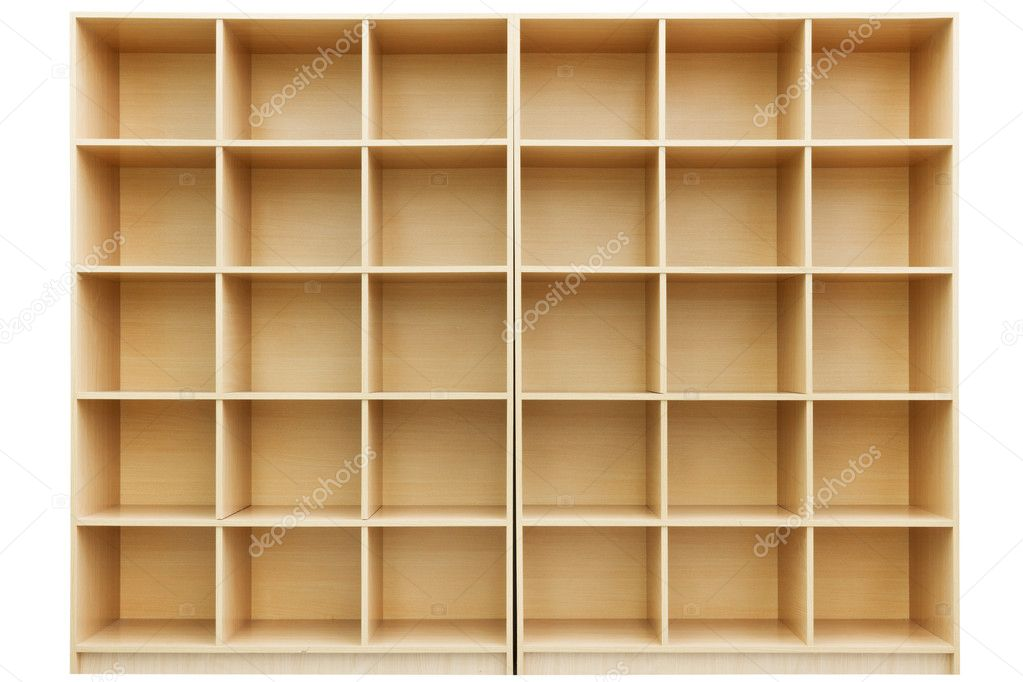 Shelves Box Shelves Small Wooden Box With Cells — Stock Photo © Chamillewhite .