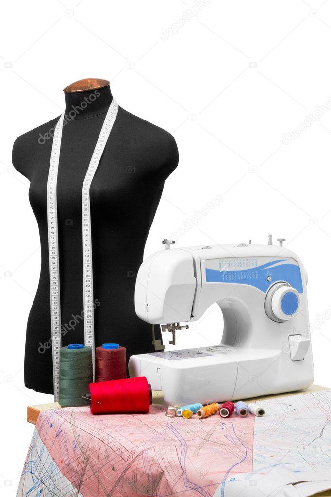 Imágenes: modista | equipo de modista profesional — Foto de stock ...