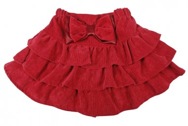 Red children skirt